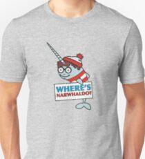 Where's Narwhaldo Narwhal Not Dabbing Funny Parody Unisex T-Shirt