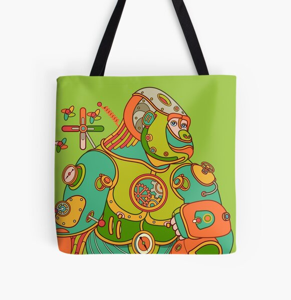 Gorilla, from the AlphaPod collection All Over Print Tote Bag