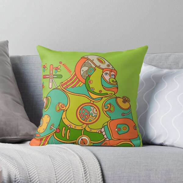 Gorilla, from the AlphaPod collection Throw Pillow