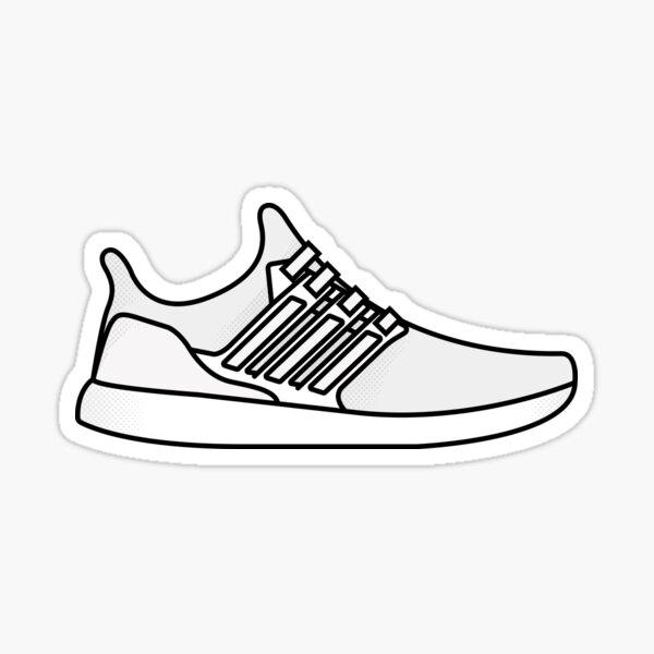 Adidas Ultraboost - Triple White Pegatina