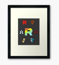 Team Rainbow Rocket - The Axis of Pokemon Villains  Framed Print