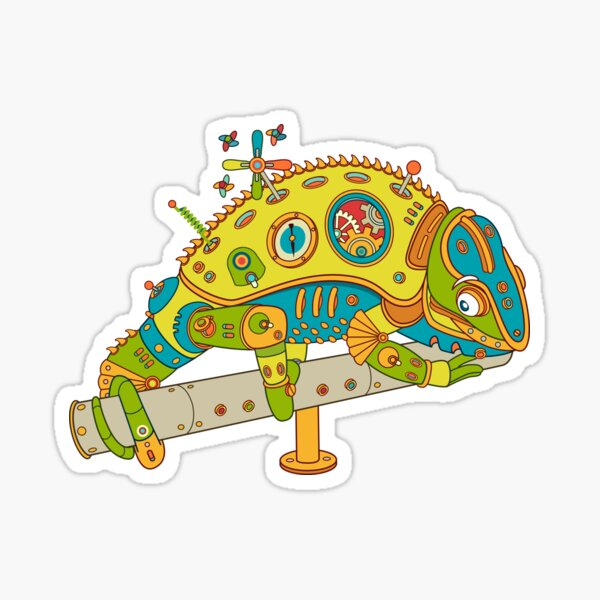 Chameleon, from the AlphaPod collection Sticker