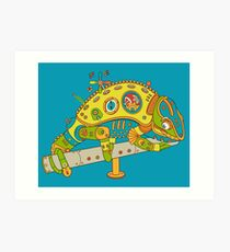 Chameleon, from the AlphaPod collection Art Print
