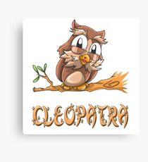 Cleopatra Owl Canvas Print