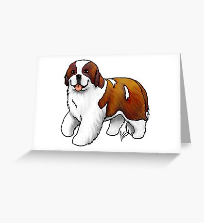 St. Bernard Greeting Card