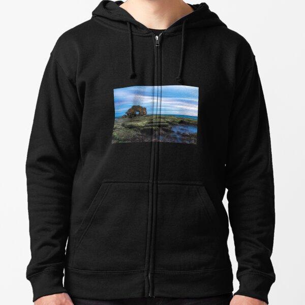 Keyhole Rock, Bridgewater Bay, Mornington Peninsula, Victoria, Australia Zipped Hoodie