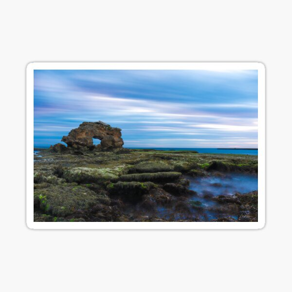 Keyhole Rock, Bridgewater Bay, Mornington Peninsula, Victoria, Australia Sticker