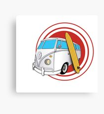 Kombi and surf Canvas Print