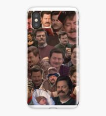 RON SWANSON'S FACES iPhone Case