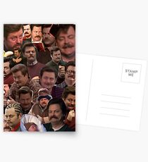 RON SWANSON'S FACES Postcards