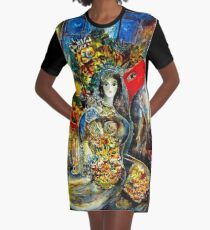 BELLA : Marc Chagall Vintage Abstract Painting Print Graphic T-Shirt Dress