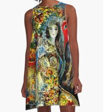 BELLA : Marc Chagall Vintage Abstract Painting Print A-Line Dress