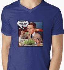 Little Tommy Always Eats His Greens! Men's V-Neck T-Shirt