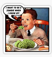 Little Tommy Always Eats His Greens! Sticker