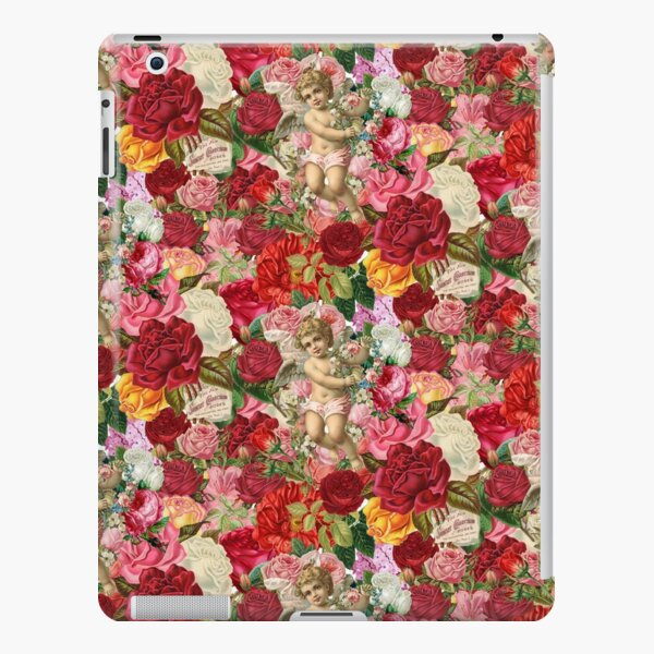 Victorian Cherub and Roses Chintzy Scrapbook Collage by Moose Disco iPad Snap Case