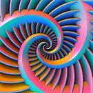 Opposing Spiral Pattern in 3-D by Lyle Hatch