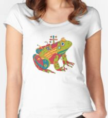 Frog, from the AlphaPod collection Women's Fitted Scoop T-Shirt