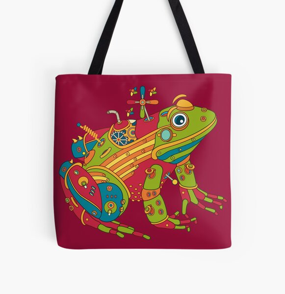 Frog, from the AlphaPod collection All Over Print Tote Bag