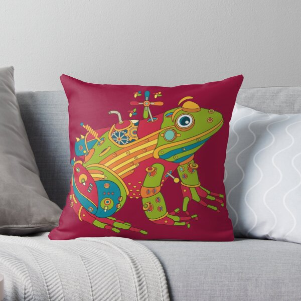 Frog, from the AlphaPod collection Throw Pillow