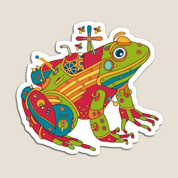 Frog, from the AlphaPod collection Magnet