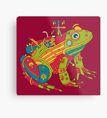 Frog, from the AlphaPod collection Metal Print
