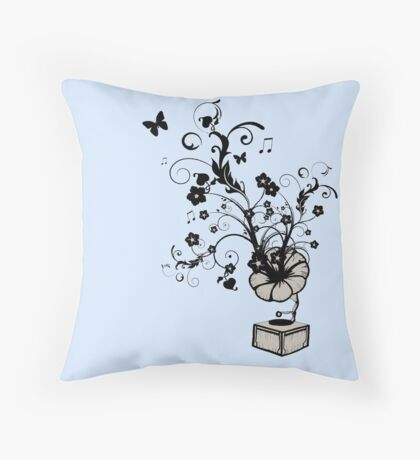 Play me a garden Throw Pillow