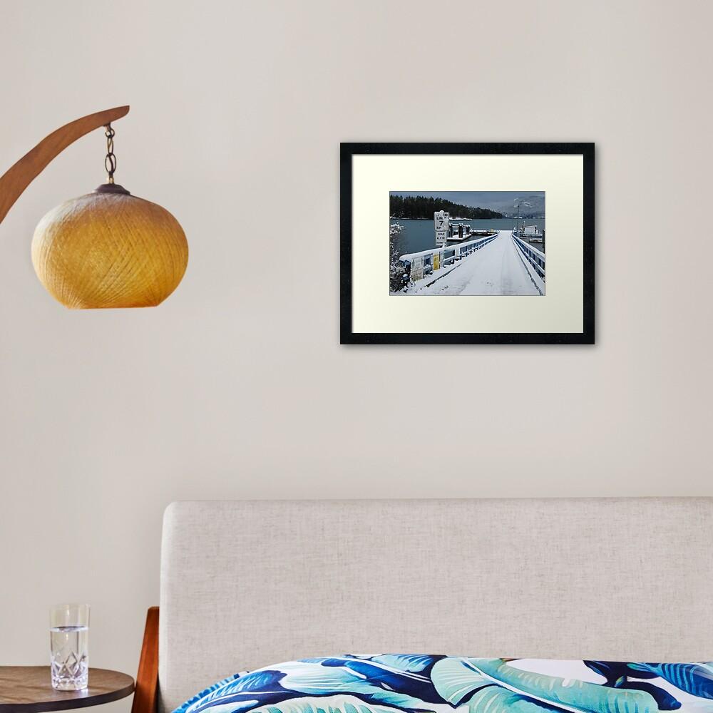 Miner's Bay Dock, Mayne Island Framed Art Print