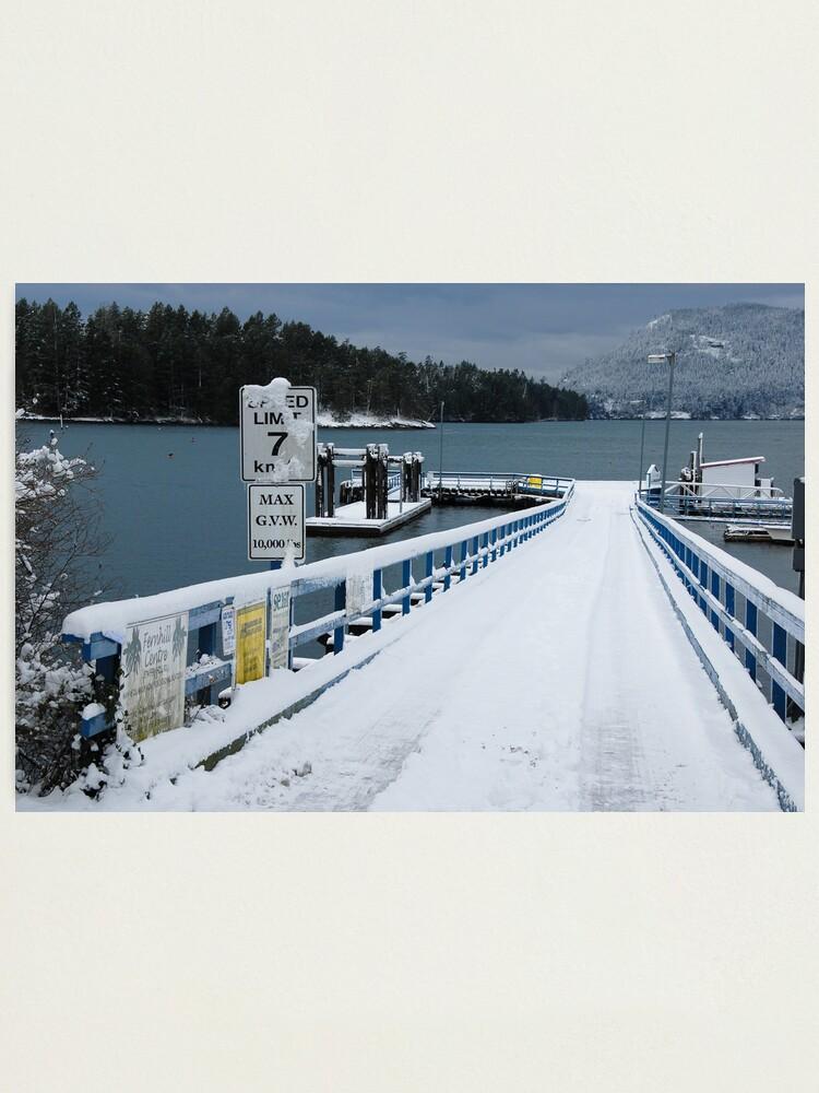Alternate view of Miner's Bay Dock, Mayne Island Photographic Print
