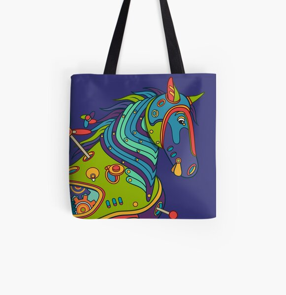 Horse, from the AlphaPod collection All Over Print Tote Bag