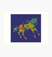 Horse, from the AlphaPod collection Art Print