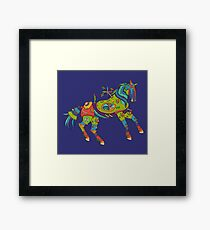 Horse, from the AlphaPod collection Framed Print