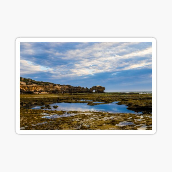 Keyhole Rock, Bridgewater Bay,Blairgowrie, Mornington Peninsula, Victoria, Australia Sticker