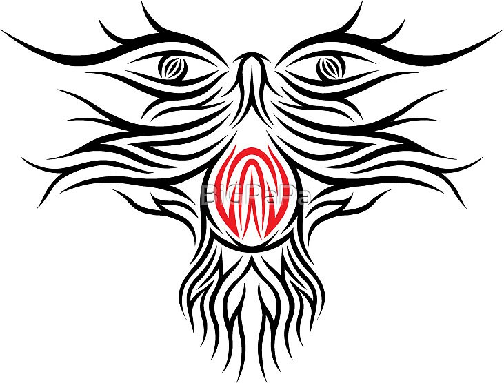 Mystical medieval face in vector by BiGPaPa