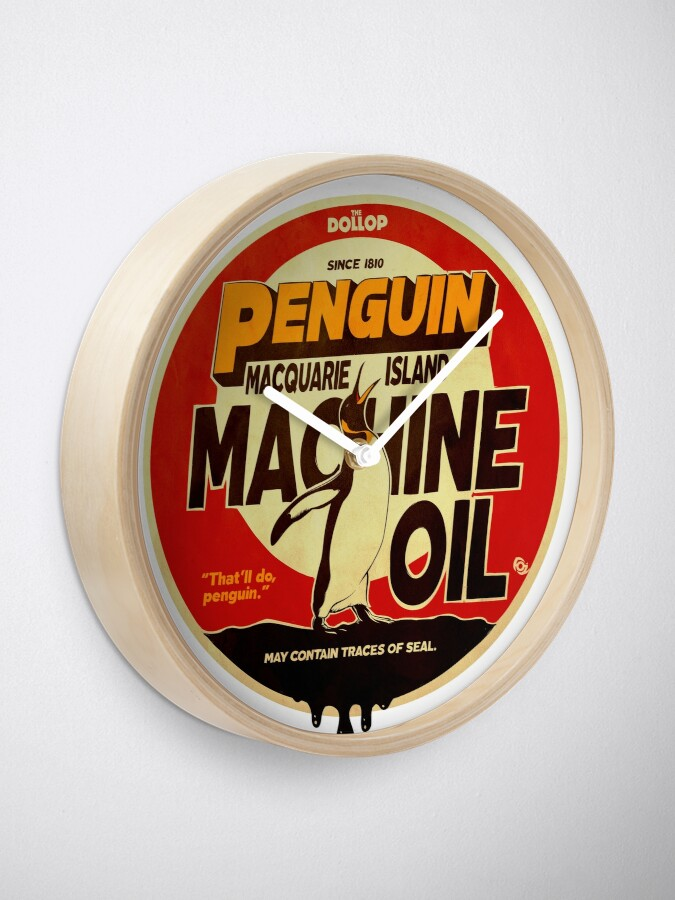 Alternate view of The Dollop - Penguin Oil Clock
