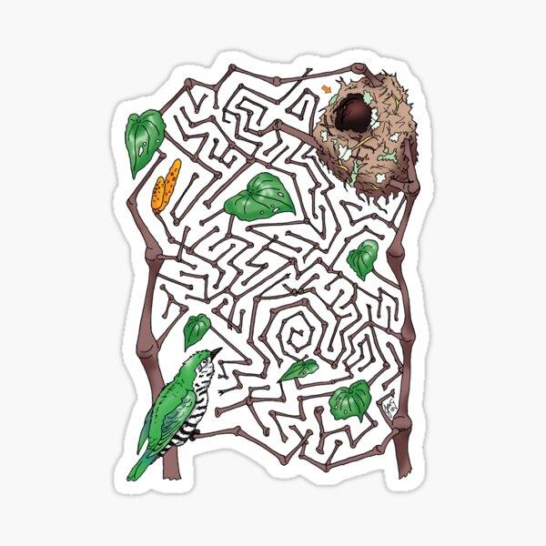 Shining cuckoo vs. the kawakawa maze Sticker