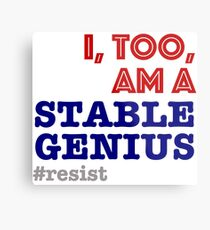 Stable Genius Metal Print