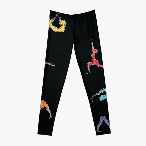 Rainbow Yoga Poses Leggings