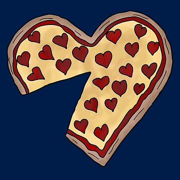Piece of my heart Matching Pizza by bethcentral