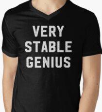 Very Stable Genius Men's V-Neck T-Shirt