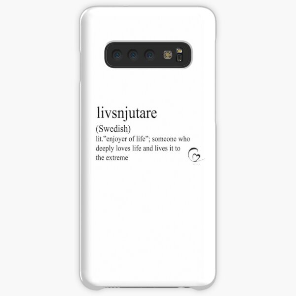 livsnjutare (Swedish) statement tees & accessories Samsung Galaxy Snap Case