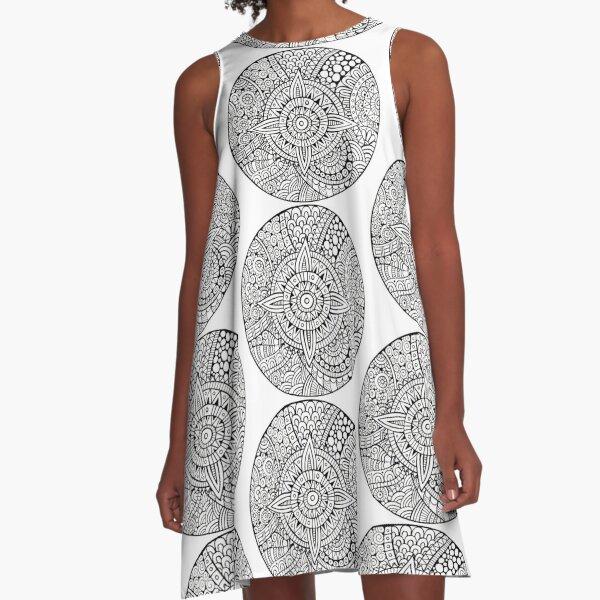Star With Strange Patterns A-Line Dress