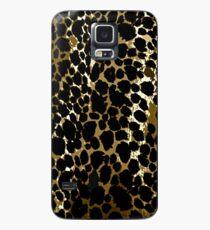 Animal Print Cheetah Black and Brown Case/Skin for Samsung Galaxy