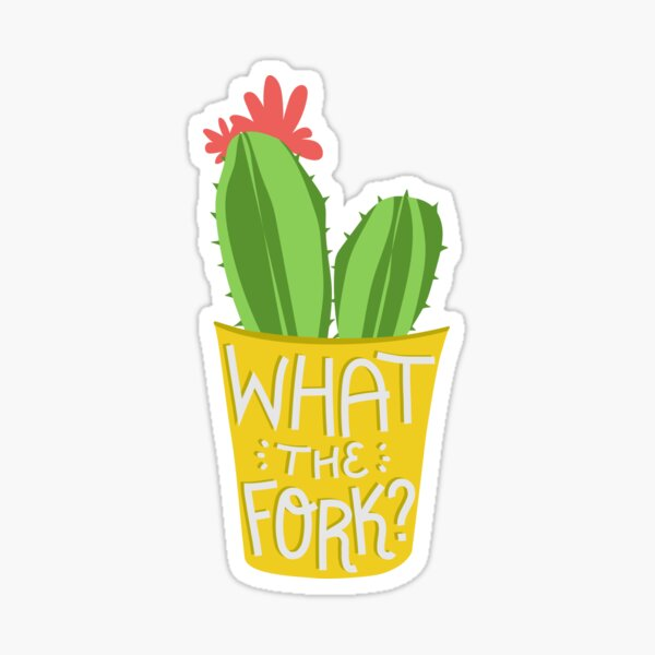 what the fork? cactus (The Good Place) Sticker
