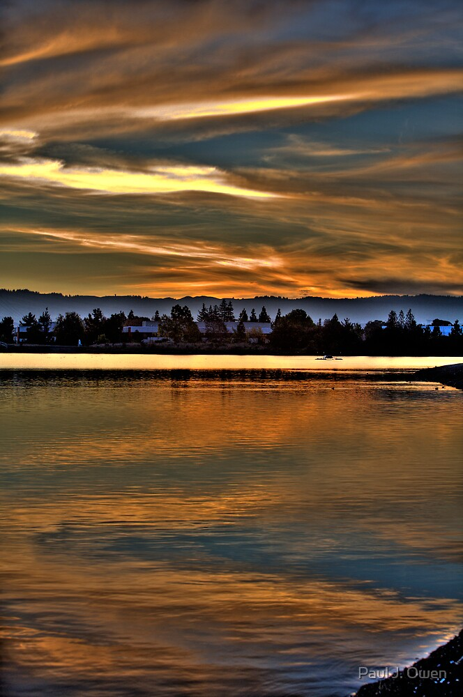 Sunset at Shoreline Lake by Paul J. Owen