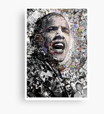 """I Am Not A Perfect Man"", Obama Civil Rights and Protest Collage Metal Print"