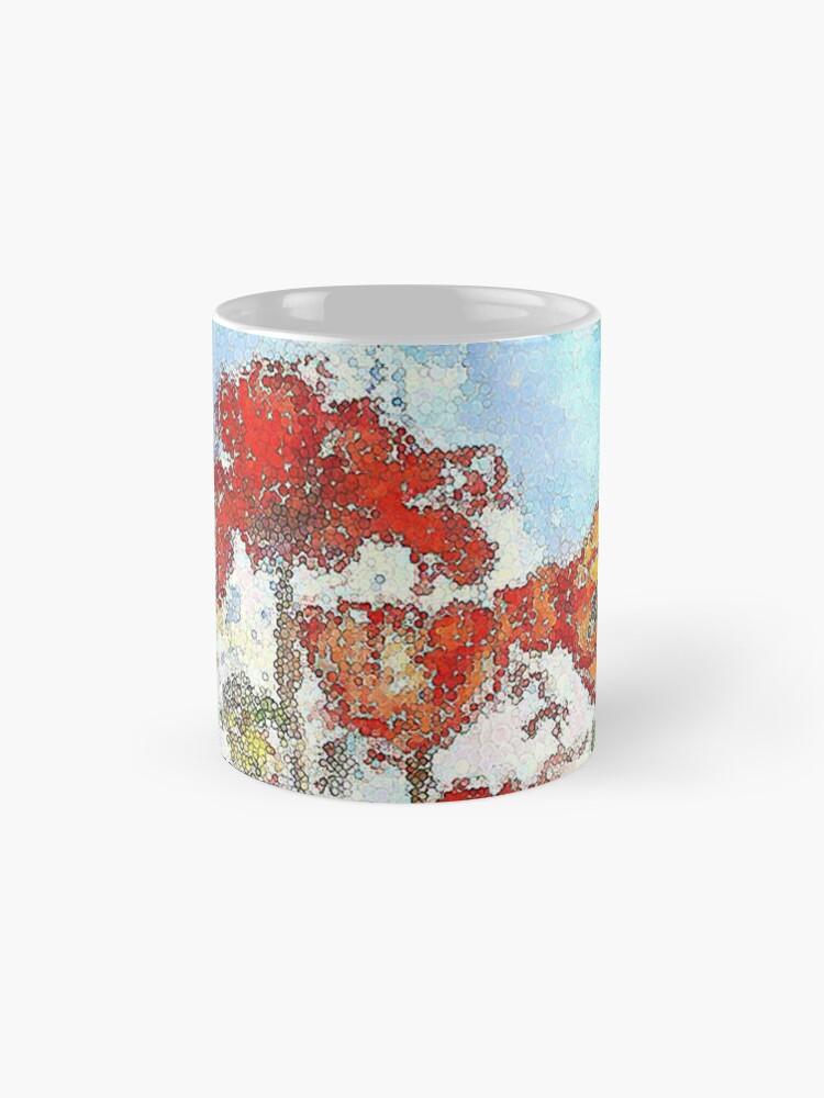 Alternate view of Mosaic poppies Mug