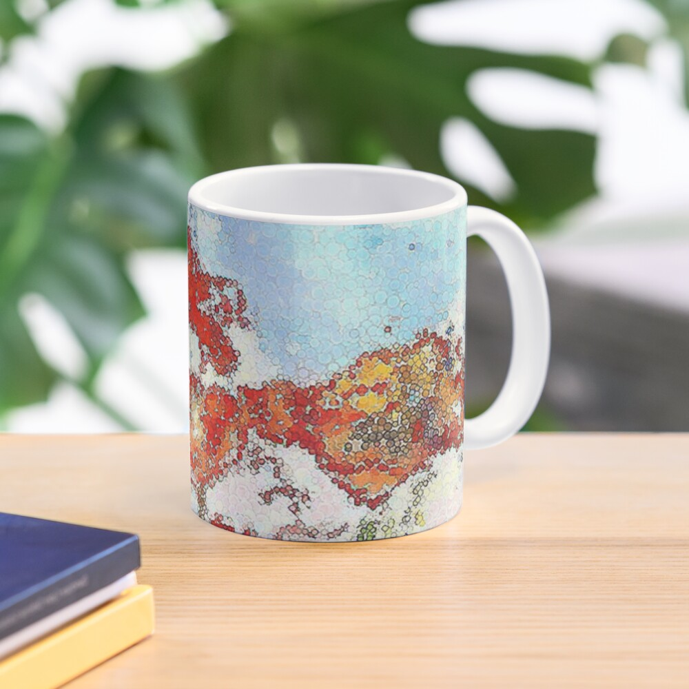 Mosaic poppies Mug