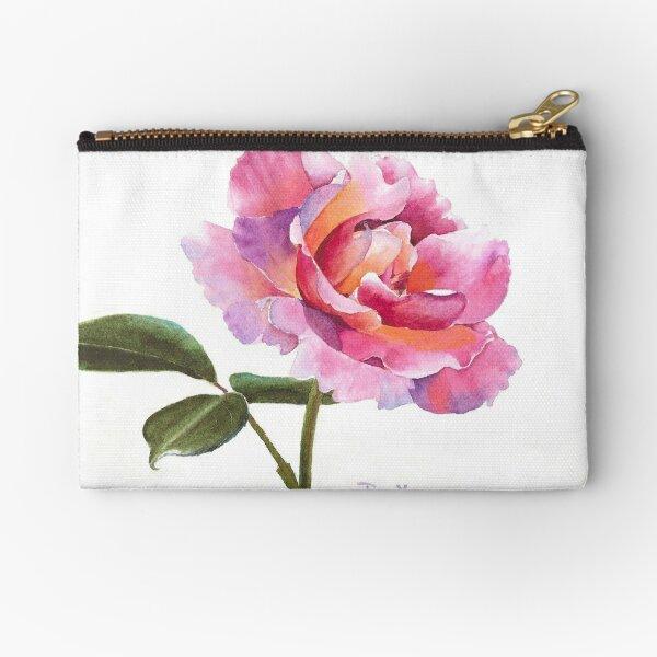 Rose Watercolor Zipper Pouch