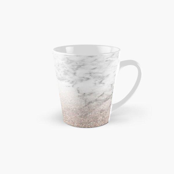 Rose gold glitter on marble Tall Mug