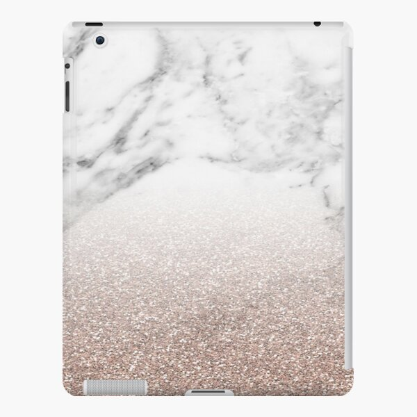Rose gold glitter on marble iPad Snap Case